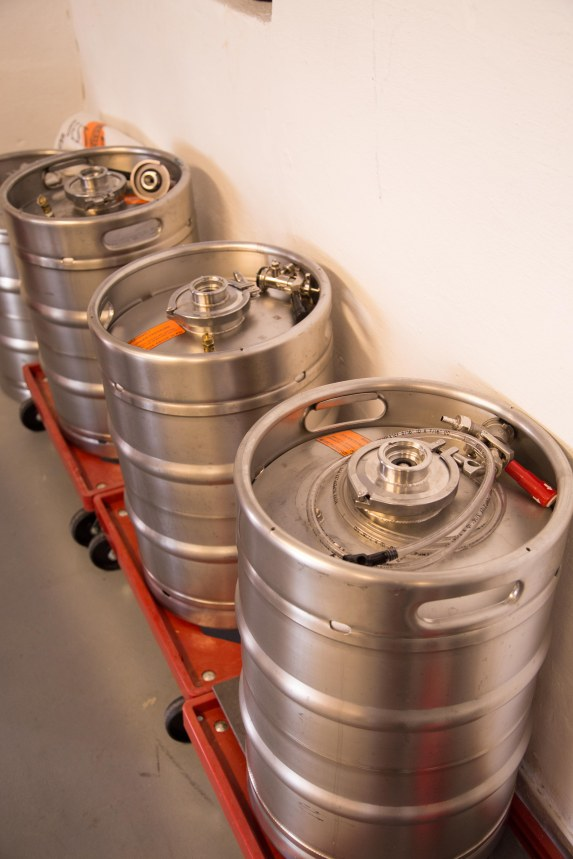 Kegs, ready for delivery