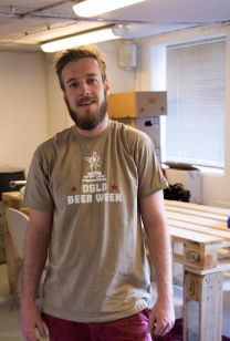 Cameron representing Oslo Beer Week for Little Brother Brewery