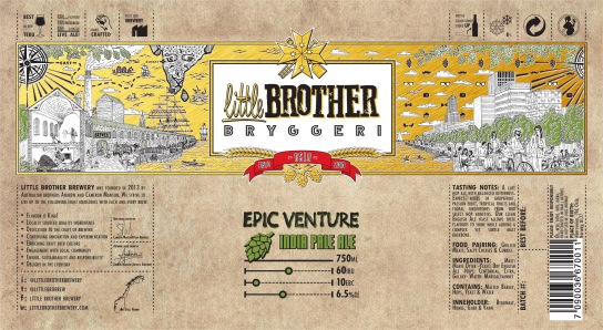 Epic Venture IPA Label