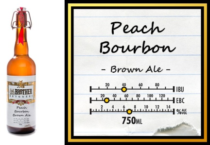 Peach Bourbon Brown Ale, Little Brother Brewery